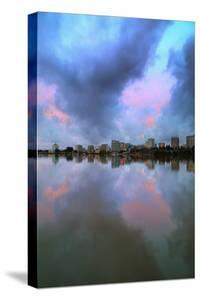Stormy Lake Merritt Reflection Water & Urban Scene Oakland by Vincent James