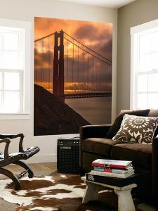 Stormy Morning Sunrise at Golden Gate Bridge by Vincent James