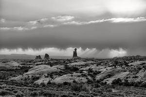 Stormy Southwest Utah in Black and White, Arches by Vincent James