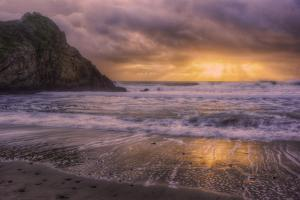 Stormy Sun Break at Big Sur, California Coast by Vincent James