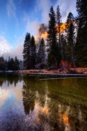 Stormy Sunset Light at Sentinel Beach El Capitan Yosemite Valley by Vincent James