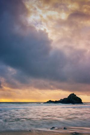 Stormy Sunset Skies at Big Sur, Pfieffer Beach, California Coast by Vincent James