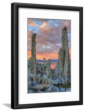Stormy Tufa at Sunrise Mono Lake California