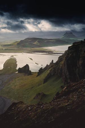 Stunning Southern Iceland Views Summer Green Storm Clouds by Vincent James