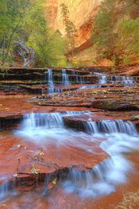 Subway Cascades and Approach at Zion by Vincent James