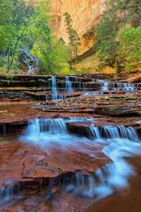 Subway Cascades in Zion Southern Utah in Autumn by Vincent James
