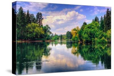 Summer Afternoon Reflections at Drake Park, Bend Oregon