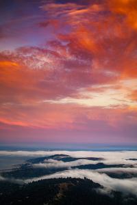 Summer Burn & Fog Over San Francisco, Marin Mount Tamalpais by Vincent James
