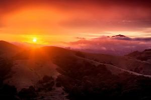 Summer Sunrise and Fog, Moody East Bay Hills,  Northern California by Vincent James
