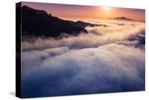 Sunrise Above Fog at East Bay Hills Oakland Mount Diablo by Vincent James