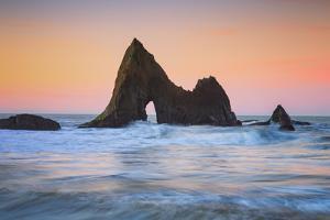 Sunrise Arch at Martin's Beach, Half Moon Bay, California Coast by Vincent James