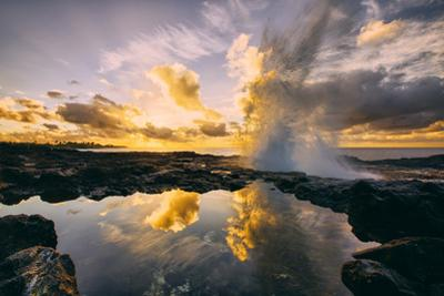 Sunrise at Spouting Horn, South Kauai, Poipu Hawaii by Vincent James