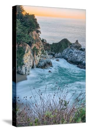 Sunrise Cove and Waterfall, McWay Falls, Big Sur California Coast