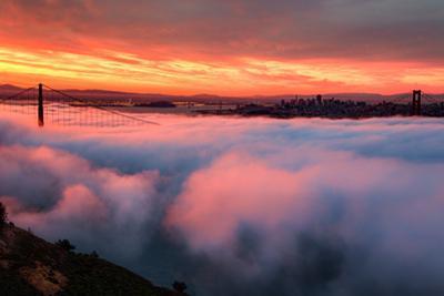 Sunrise Magic Fog Light at San Francisco Bay Dramatic Vision by Vincent James