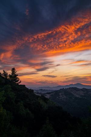 Sunrise Magic Sky Fire Clouds Over Oakland Hills Bay Area by Vincent James