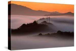 Sunrise Mist & East Bay Hills Towers Moraga Oakland California by Vincent James