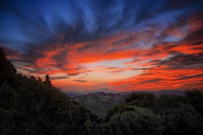 Sunrise Vortex Sky Fire Clouds Over Oakland Hills Bay Area by Vincent James