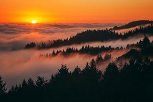 Sunset Above the Fog San Francisco Bay Area Mount Tamalpais by Vincent James