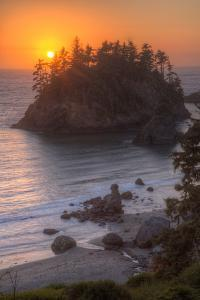 Sunset Above Trinidad State Beach California Coast by Vincent James