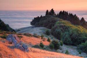 Sunset and Fog at Bolinas Ridge, Mount Tampalais by Vincent James