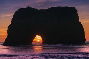 Sunset at Elephant Rock, Mendocino Coast California by Vincent James