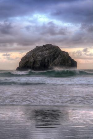 Sunset at Face Rock, Bandon Beach, Oregon Coast by Vincent James