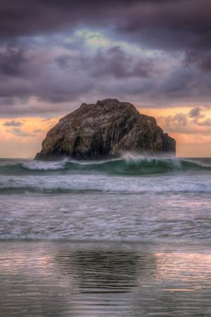 Sunset at Face Rock, Bandon Beach Oregon by Vincent James