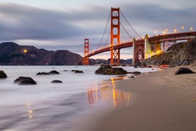Sunset at Marshall Beach, Golden Gate Bridge, San Francisco California by Vincent James