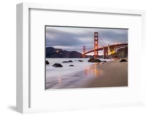 Sunset at Marshall Beach, Golden Gate Bridge, San Francisco California by Vincent James