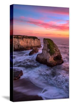 Sunset at Shark Fin Cove, Davenport, Santa Cruz, Pacific Ocean