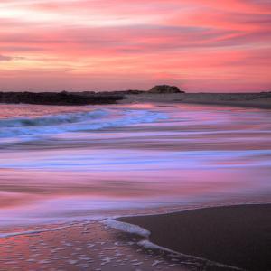 Sunset Beach Paint (Square) by Vincent James