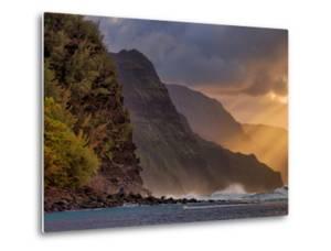 Sunset Beams at the Edge of Kauai, Hawaii by Vincent James