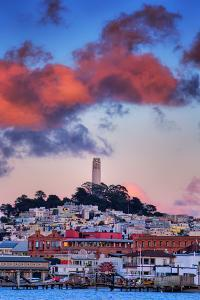 Sunset Clouds Over Coit Tower, San Francisco Icon Travel by Vincent James