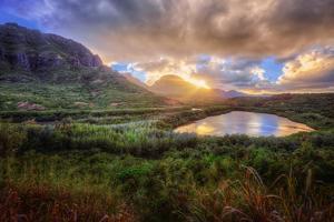 Sunset Drama at Menehune Fishpond, Kauai Hawaii by Vincent James
