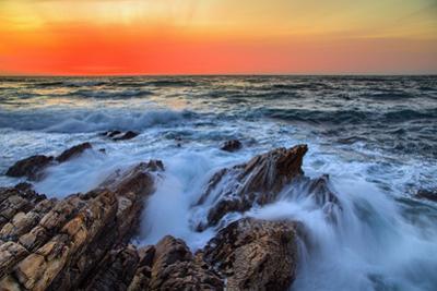 Sunset Glow & Ocean Waves Montaña de Oro State Park California Coast by Vincent James
