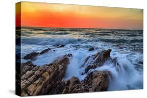 Sunset Glow & Ocean Waves Montaña de Oro State Park California Coast by Vincent James