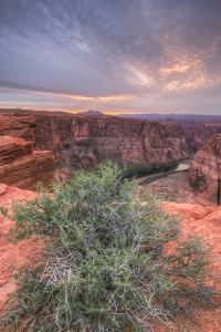 Sunset Landscape By The Colorado River, Page Arizona by Vincent James
