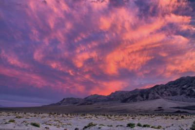 Sunset on the Moon, Clouds Over Death Valley, California by Vincent James