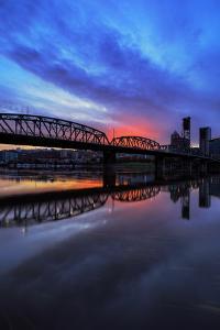 Sunset Reflection, Portland, Oregon by Vincent James