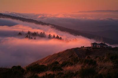 Sunset Russian Ridge Santa Cruz Mountains Silicon Valley Redwood City by Vincent James