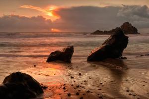 Sunset Seascape at Pfieffer Beach, Big Sur by Vincent James