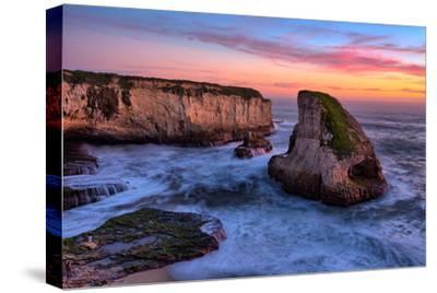 Sunset Seascape, Shark Fin Cove, Davenport, Santa Cruz, Pacific Ocean