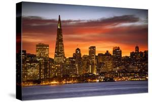 Sunset Special Downtown San Francisco Beautiful Color & Clouds by Vincent James