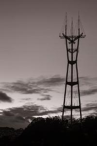 Sutro Tower in Black and White by Vincent James