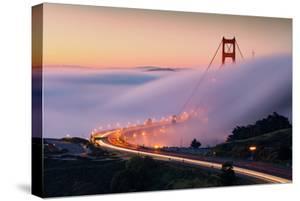 Sweet Approach Fog & Golden Gate Bridge Into San Francisco by Vincent James