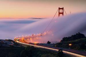 Sweet Approach Fog & Golden Gate Bridge Into San Francisco by Vincent James