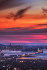 Sweet Candy Sunset, San Francisco Bay by Vincent James