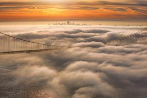 Sweet Fog City Sunrise San Francisco Bay Area & Golden Gate Bridge by Vincent James