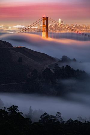 Sweet Fog Pocket at Sunrise Golden Gate San Francisco by Vincent James