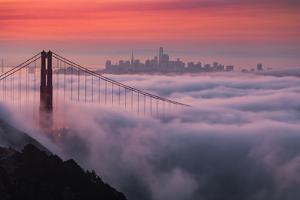 Sweet New Fog City Candy Sky Sunrise Golden Gate Bridge San Francisco by Vincent James